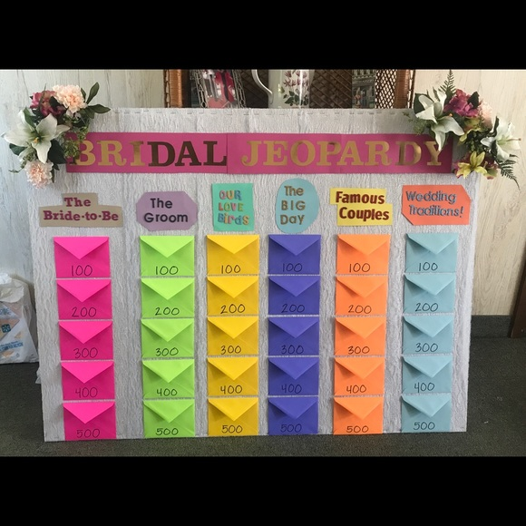 Other Bridal Jeopardy Game Homemade W Poshmark